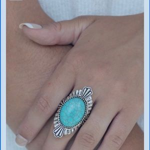 Top  seller turquoise ladies ring one size 6-12